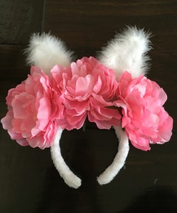 DIY: Bunny Ear Flower Crown