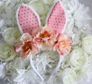 DIY Sequin Bunny Flower Crown