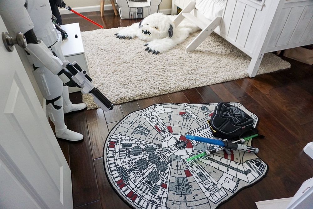 Thank You To ThinkGeek For Supplying Us With The Coolest Rugs! Check Out  Their Star Wars Wampa Rug And Millennium Falcon Rug