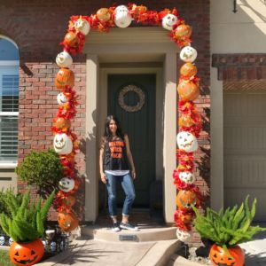 Pumpkin Archway for Halloween & Fall