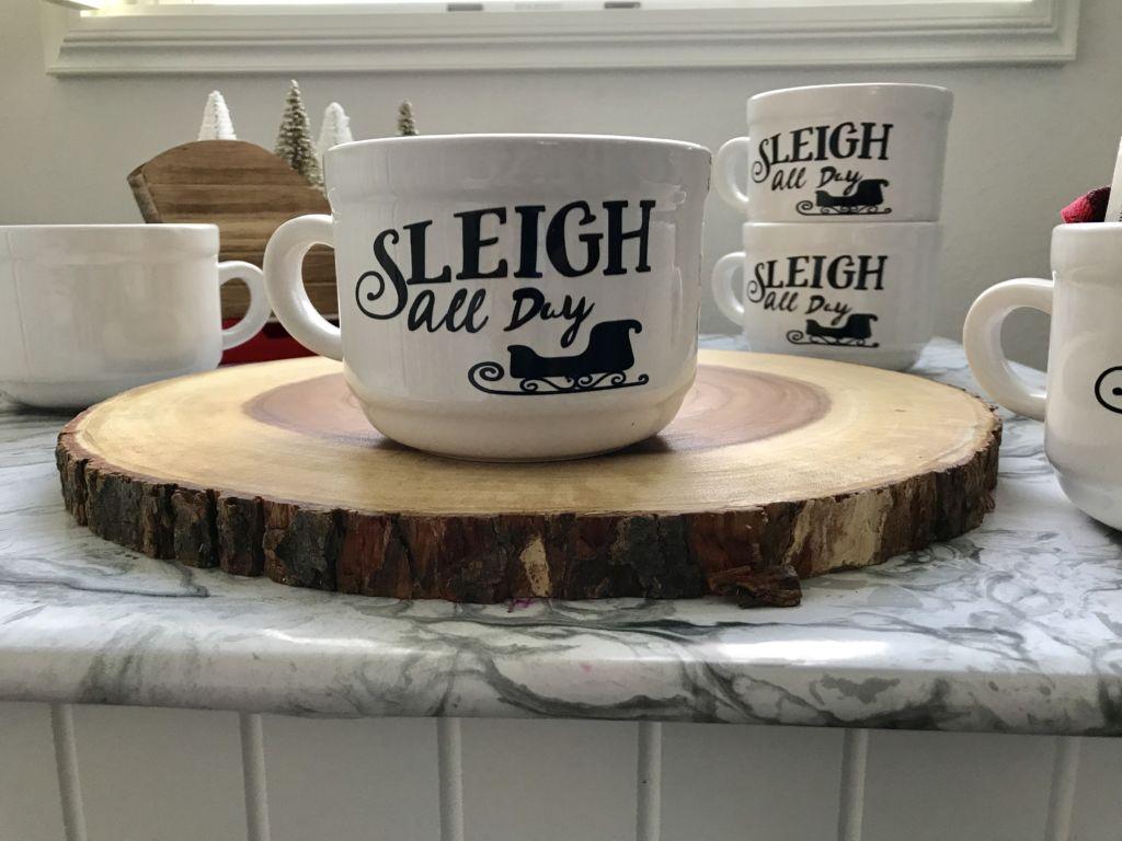 Sleigh All Day – DIY Dollar Store Mug